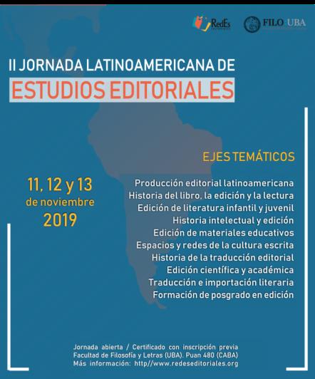 II Jornadas Latinaoamericanas sobre Estudios de Edición UBA 2019