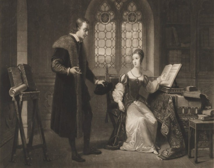 Portrait of Roger Ascham and Lady Jane Grey